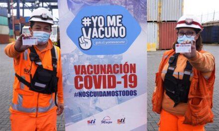Terminales portuarios en Chile inician vacunación de sus trabajadores contra el Covid-19