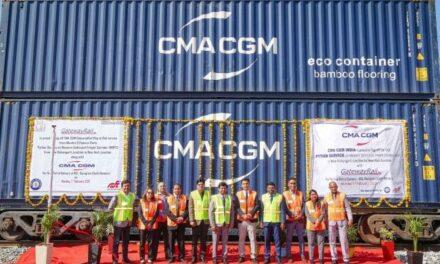 CMA CGM India presenta el primer servicio de tren de Pistones de la naviera