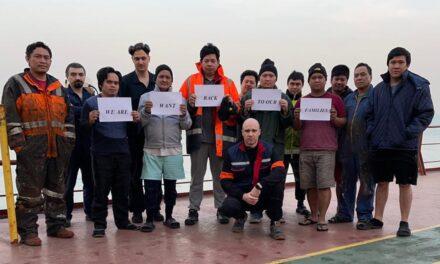 La ITF pide a las navieras que salven a los marinos varados frente a China