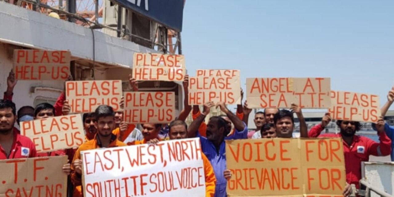 La tripulación de un barco abandonado hace huelga de hambre en Kuwait