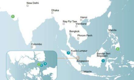 3 de los 7 incidentes de robo a mano armada contra barcos en Asia ocurrieron en el estrecho de Singapur (enero de 2021)
