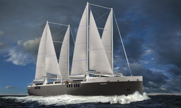 Michelin se compromete a transportar neumáticos en buques de carga a vela
