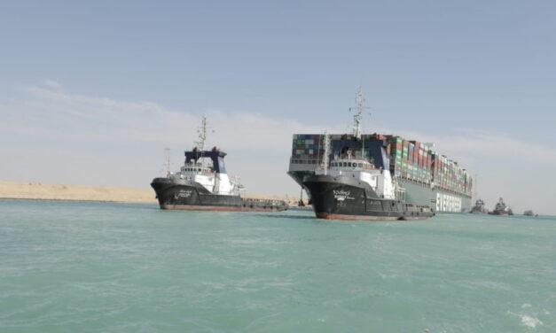 Se libera al «Ever Given» permitiendo la reanudación del transporte marítimo a través del Canal de Suez
