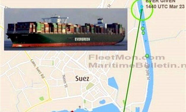 AMP inicia investigación por accidente del portacontenedores «Ever Given» en el Canal de Suez