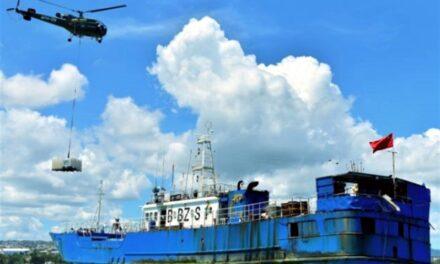 Pesquero de 45 metros de eslora encalla en las costas de Mauricio