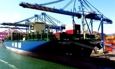 HMM recibe la entrega de su primer portacontenedores de 16.000 TEUs «HMM Nuri»