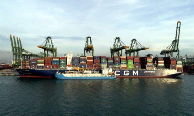 CMA CGM y FueLNG realizan la primera operación de bunkering ship to ship de GNL en Asia en el puerto de Singapur