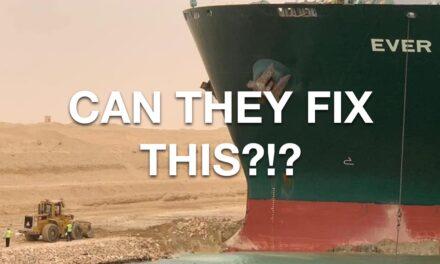 Video: Cómo salvar un mega buque encallado en el Canal de Suez