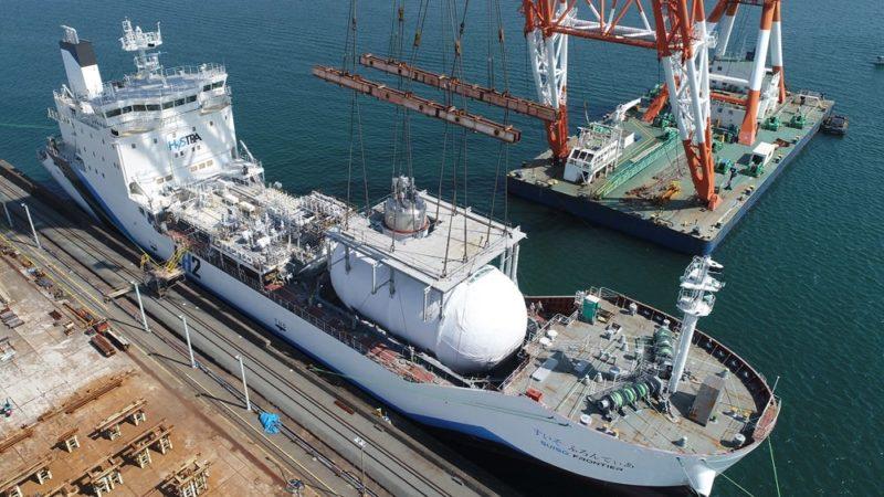 Kawasaki Heavy retrasa la salida de «Suiso Frontier»,  el primer buque cisterna de hidrógeno del mundo