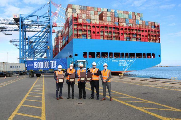 La mayor terminal de contenedores del Báltico «DCT Gdańsk» alcanza el hito de los 15 millones de TEU