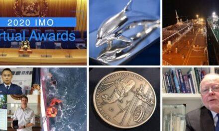 Personal marítimo excepcional galardonado en los premios virtuales de la OMI