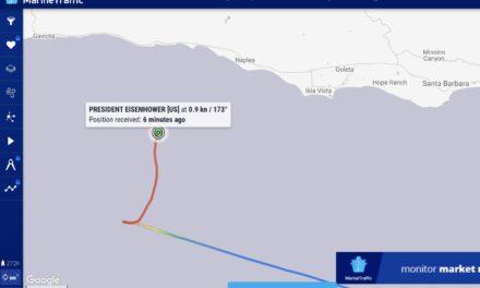 Rescatan un buque portacontenedores de bandera estadounidense tras un incendio en el canal de Santa Bárbara