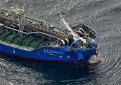Vídeo: Un carguero japonés aborda con un buque cisterna de productos químicos, 3 marinos desaparecidos
