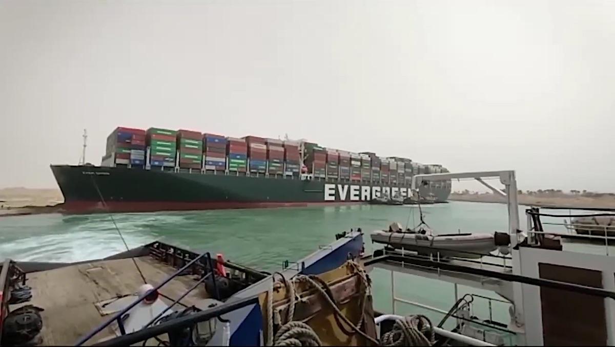 Acuerdo alcanzado para el zarpe de Suez del «Ever Given» el miercoles