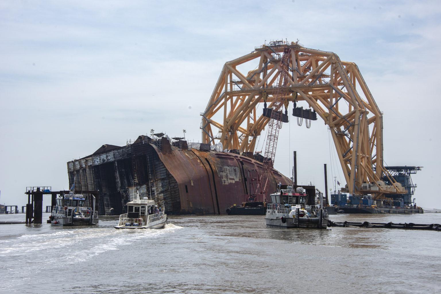 Se aprueba el uso de explosivos en la retirada de los restos del «Golden Ray»