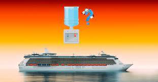 ¿Cómo obtienen agua dulce los buques  crucero?