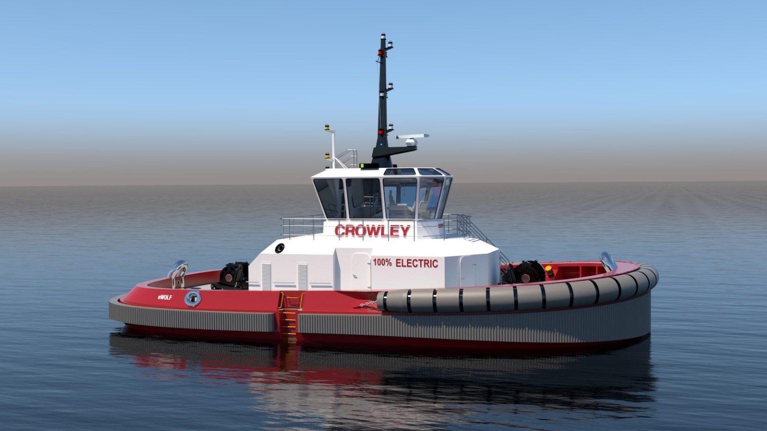 Crowley planea un remolcador eléctrico con cero emisiones