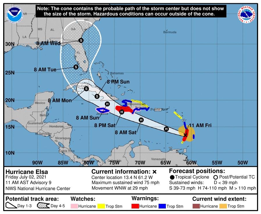 El primer huracán atlántico de 2021 amenaza el Caribe