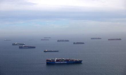 Número récord de buques en los puertos del sur de California