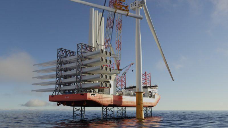 El nuevo diseño de buque de instalación de aerogeneradores preparado para hidrógeno obtiene el sello de aprobación de ABS