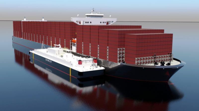 Crowley y Shell construirán y fletarán la mayor barcaza de GNL de EE.UU.
